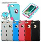 For iPhone 7 & iPhone 8 - HYBRID Armor Hard&Soft Rubber High Impact Case Cover