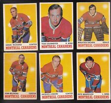 1970 O-Pee-chee Team LOT of 15 Montreal CANADIENS VG/EX LEMAIRE VACHON BELIVEAU