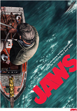 1975 Jaws Movie Poster/Print > Martin Brody > Quint > Great White Shark 🦈�