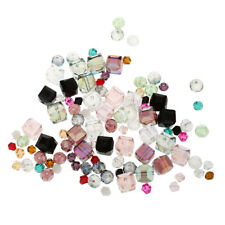 100Pcs Rhinestone Spacer Beads For Dress Jewelry Making Hair Bow Craft Charm