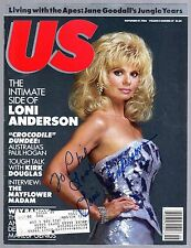 LONI ANDERSON  Signed Autographed US Magazine