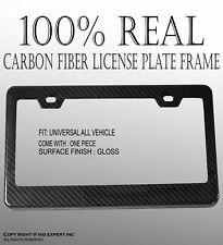 JDM 1 pc Black Carbon FIBER LICENSE PLATE FRAME HOLDER COVER FRONT/REAR B268