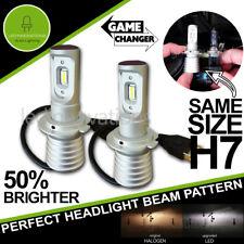 H7 SUPER SLIM LED CONVERSION CAR HEADLIGHT BULBS KIT 5700K XENON WHITE 12V & 24V