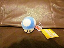 Mario Bros. Blue Mushroom Keychain  2 Inches  (NEW)