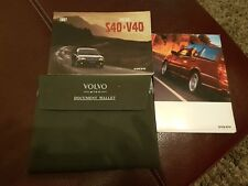 Volvo Plus S40 V40 Owners Manual Handbook Pack Case Document Wallet 1995 - 2004