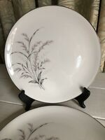 "2 Vtg Garden Queen by ARCADIAN Fine Prestige China Dinner Plate 10-1/4"" Gray"