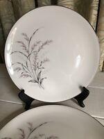 "2 Vtg Garden Queen by ARCADIAN Fine Prestige China Dinner Plate 10-1/4"" Gray"