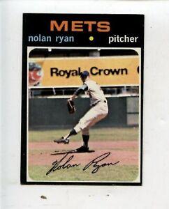 1971 Topps Baseball Card #513 Nolan Ryan New York Mets