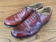Barker Brogue Shoes Brown Leather Size 9
