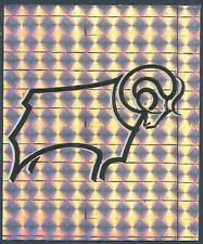 PANINI FOOTBALL LEAGUE 96 -#064-DERBY COUNTY TEAM BADGE-SILVER FOIL