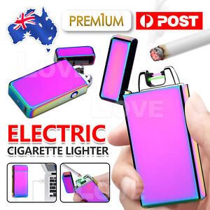 Electric Cigarette Lighter Pulse Arc Flameless Metal Windproof Usb Rechargeable