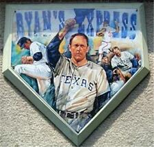 Nolan Ryan Express Texas Rangers Base Wall Plaque RARE