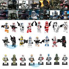 24PCS Star Clone Trooper Commander Collection Building Block Mini Figure DIY Toy