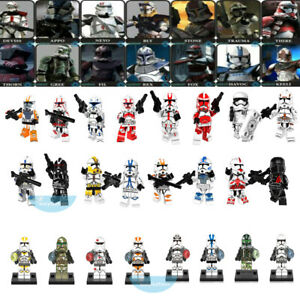 24PCS Star Clone Trooper Commander Collection Building Block Mini Figure DIY Toy