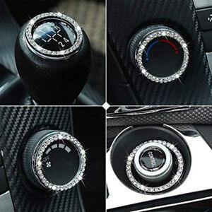 5X Car Auto Decorative Accessories Car Button Start Switch White Diamond Ring