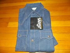 "1970's New ""The Guys"" Denim Shirt Never Worn! Men's Size Small (free shipping)"