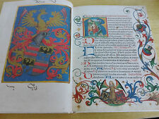 "Medieval 1500's Codex Facsimile ""MISSALE"" Book of Hours Manuscript Silk Cover"