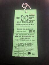 1983 Kemper Open Golf Pass Freddie Couples First Win!! Hang Ticket RARE