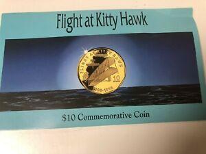 Marshall Islands Flight at Kitty Hawk $10 Commemorative Coin 1993.