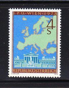 Austria 1978 MNH Sc 1080 Mi 1574 Parliament,Vienna.Map of Europe.