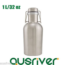 Portable Stainless Steel 1L/32 oz Mini Beer Keg Wine Water Bottle Flask XmasGift