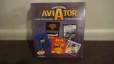 Aviator Simulator 5 Simulation Games on one disk Big Box VERY RARE. SEALED!!