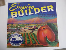 EMPIRE BUILDER APPLE CRATE LABEL CASHMERE, WASHINGTON GRAPHIC DESIGN