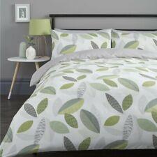 Fusion Printed Quilt Duvet Cover Set Bedding Tazio Green Double Size 200 X 200cm