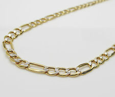 10K Gold Diamond Cut Figaro Chain 22 Inches 5.5MM 9.9 Grams