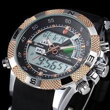 Porbeagle SHARK Mens Luxury LCD Digital Black Rubber Quartz Alarm Sport Watch