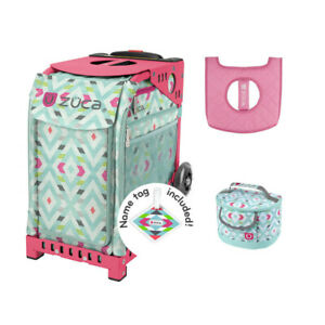Zuca Sport Bag - Chevron + FREE Lunchbox and Seat Cover (Pink Frame)