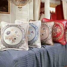 Jacquard Cushion Covers OR Filled Cushions 20 x 20 in Damask Floral Sofa Pillows
