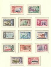 GVI 1950 CAYMAN ISLANDS SG 31-43 SET FINE LMM CAT 80