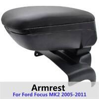 Black Car Armrest Centre Console Sliding For Ford Focus MK2 2005-2011 New Boxed