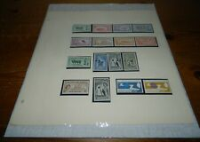 FALKLAND ISLANDS MINT STAMPS COLLECTION ON LEAVES (Cat. £320)