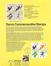 USPS Souvenir Page #7809 Dance #1749-52 w/Jitterbug CTC w/FDC
