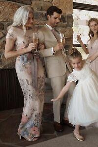 NEW $220 Adrianna Papell Melinda Floral Dress MOTB MOG Gown