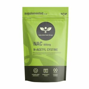 NAC N-Acetyl-Cysteine 600mg 180 Capsules Liver and Lung Support