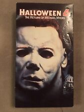 Halloween 4 Vhs Horror First Edition Nm Not A Rental Michael Myers