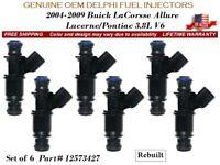 1Pc OEM Delphi Reman Fuel Injector 2005 to 2009 Buick LaCrosse 3.8L V6 #12573427
