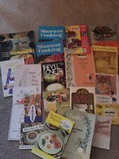 21 Vintage Cookbook Recipe Pamphlets Booklets 1950's - 60'sAdvertising Graphics!