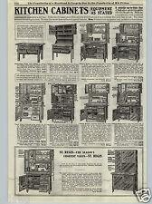 1917 PAPER AD Kitchen Cabinets St. Regis Hoosier Type Snow White Waldorf Dutch
