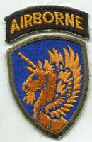 WWII US Army 13th Airborne Division Patch with Tab Original No Glow