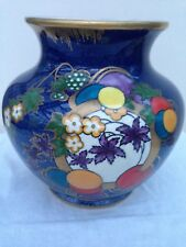 Royal Cauldon 'Mayfair' Pattern Vase Frederick Rhead Blue Glazed with Gilt Trim