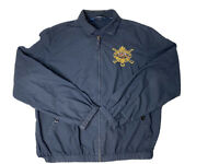 Polo Sport Ralph Lauren Mens Medium Blue Crest Logo Full Zip Windbreaker Jacket