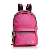 NWT MARC JACOBS Logo Medium Trek Nylon Backpack VIVID PINK $210+ AUTHENTIC!