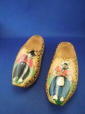 Vintage Holland Decorative Hand Painted Wooden Shoes Clogs Man & Woman Images