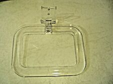 NEW CLEAR & GOLD LUCITE TOWEL RING BATHROOM HOLDER RACK