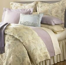 Sferra SONYA Queen Duvet Cover Shams 3 PC Champagne Cotton Sateen Jacquard New