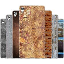 Dessana Metal Pattern TPU Silicone Protective Case Pouch Cover For sony
